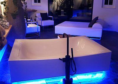 Loungebed met Loungestoelen Sauna