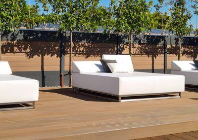 Luxe loungebedden met zitfunctie