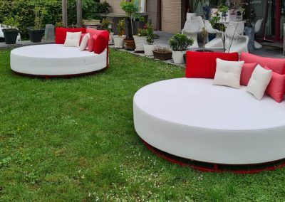 Rond loungebed